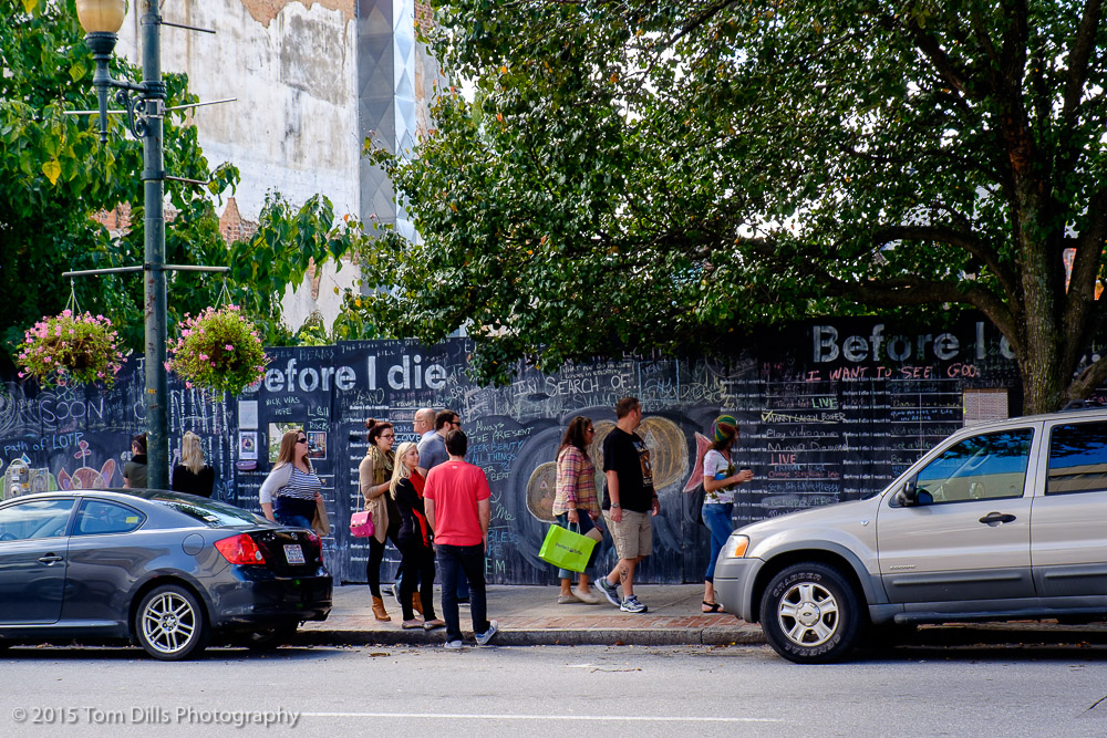 """Before I Die"" wall in Asheville, North Carolina"
