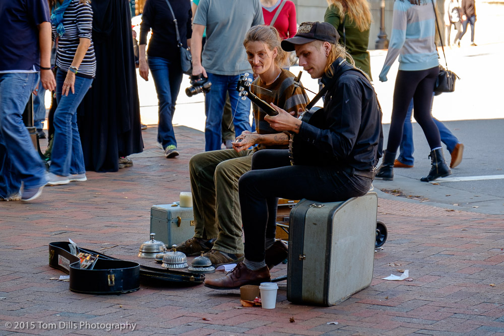 Street musicians in Asheville, North Carolina