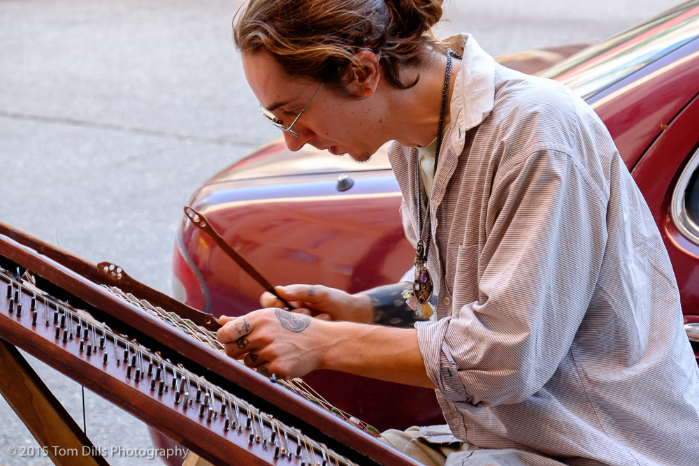 Hammered Dulcimer player in Asheville, North Carolina