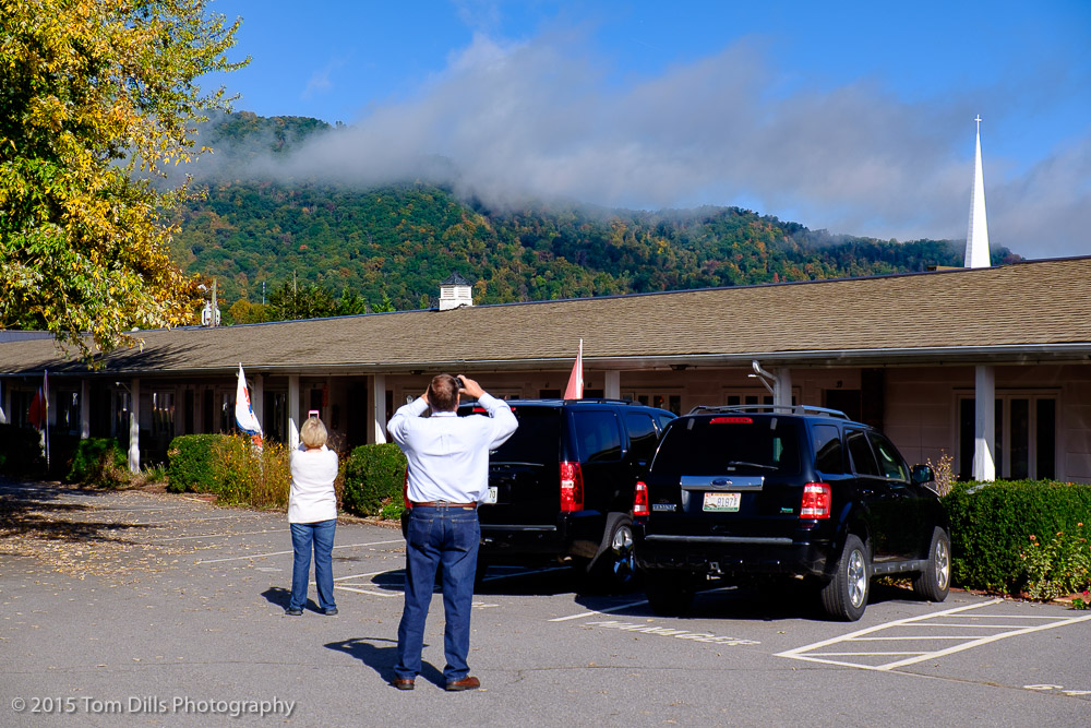 Pictures of people taking pictures, Waynesville, North Carolina
