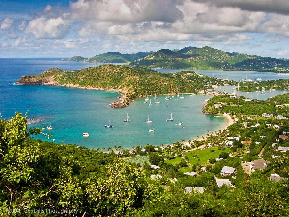 View of Nelsons Dockyard and English Harbor, Antigua