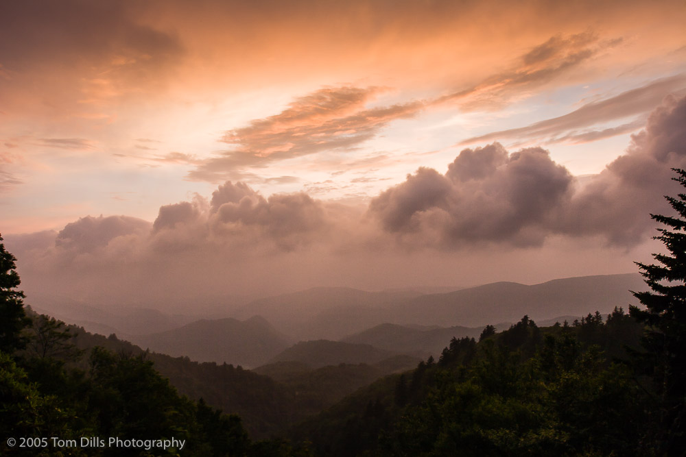 Sunset, Woolyback Overlook, Blue Ridge Parkway, NC
