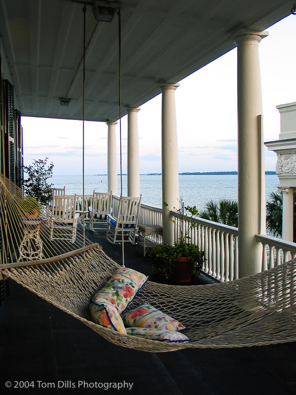View from our Verandah, Charleston, South Carolina
