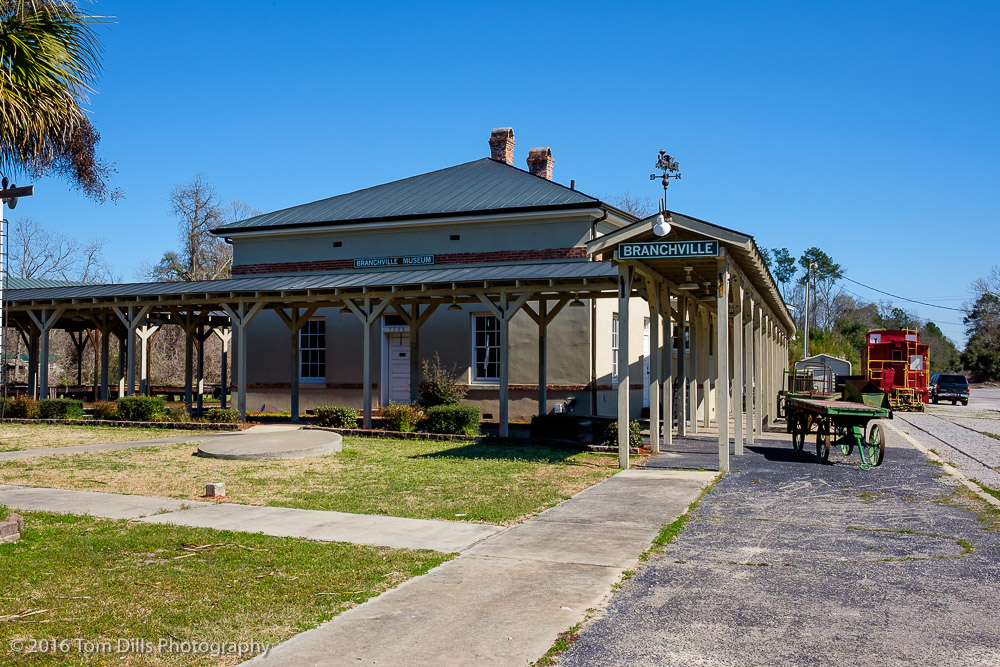 Train station in Branchville, South Carolina