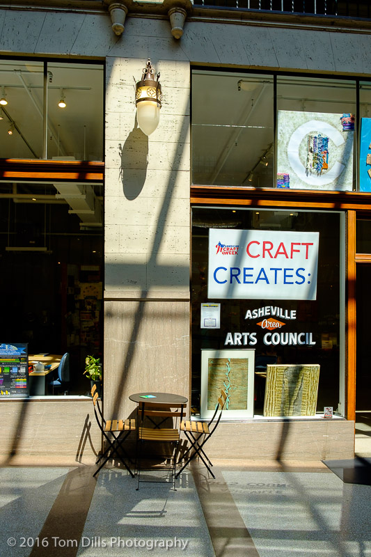 Craft Creates...Shadows? Grove Arcade, Asheville, North Carolina