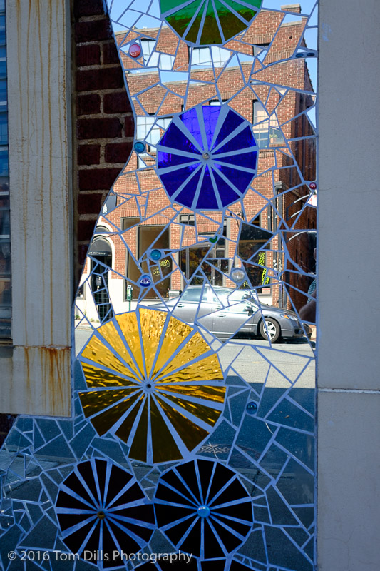 Mirrored mosaic in the South End area of Charlotte, North Carolina