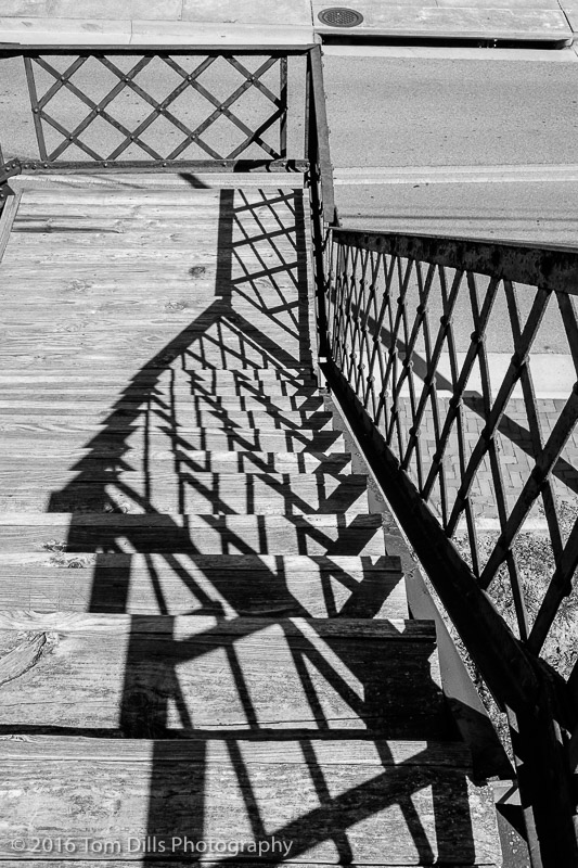 Shadows on a stairway in Abingdon Virginia
