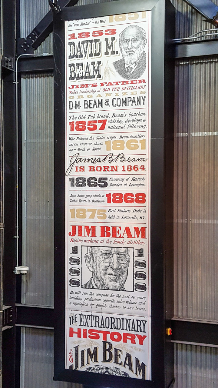 History of Jim Beam at Jim Beam Distillery, Clermont, Kentucky