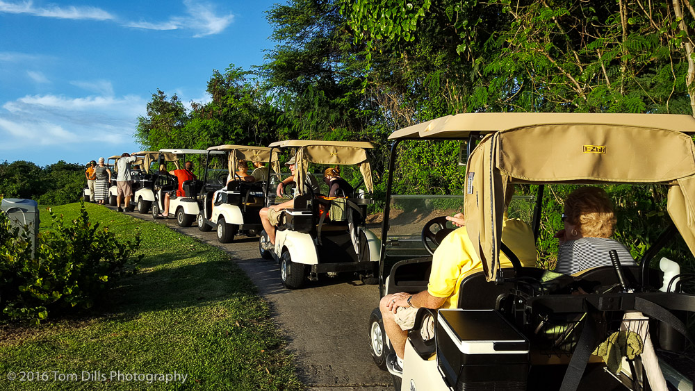 Golf course tour at Four Seasons, Nevis West Indies