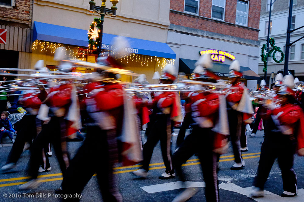 Christmas parade, Winston Salem North Carolina
