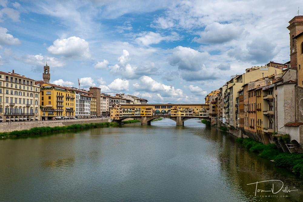 Ponte Vecchio Bridge over the Arno River, Florence Italy